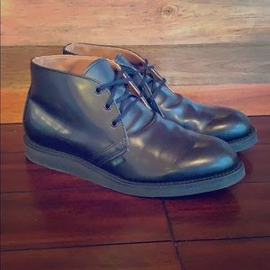 Red Wing 9196 Black Leather Postman Chukka Boots